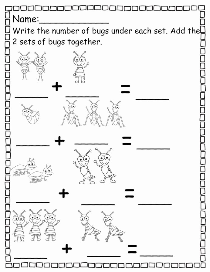 Bug Math Worksheets for Preschoolers Best Of Pre Worksheets Number Activity Shelter Kindergarten Numbers
