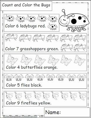 Bug Math Worksheets for Preschoolers Inspirational Bugs and Insects