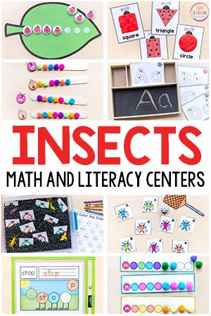 Bug Math Worksheets for Preschoolers New Insect theme Printables for Pre K and Kindergarten