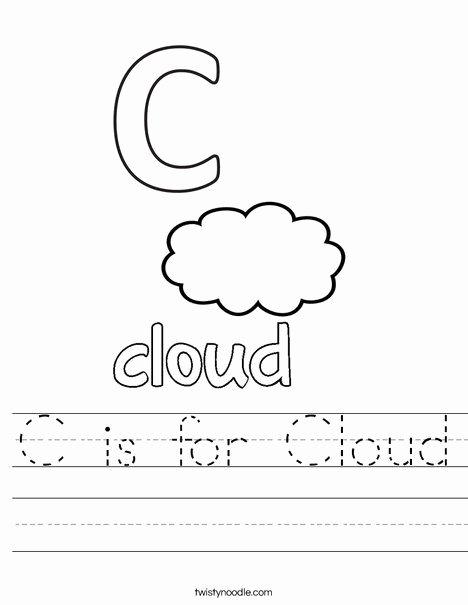 C Worksheets for Preschoolers Inspirational C is for Cloud Worksheet