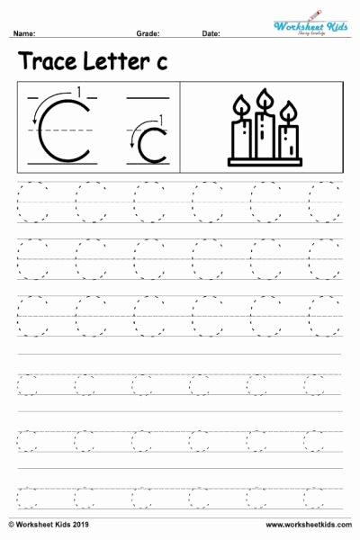 C Worksheets for Preschoolers Inspirational Letter C Alphabet Tracing Worksheets Free Printable Pdf