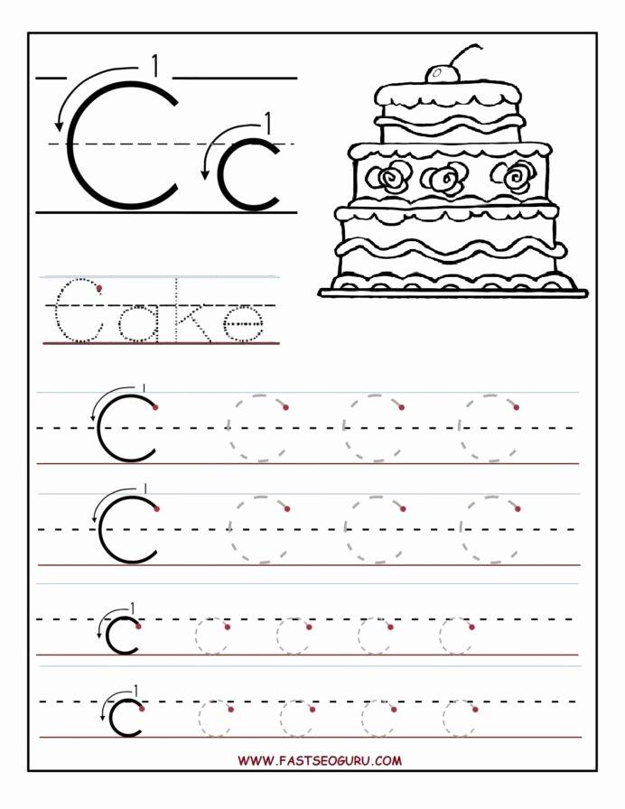 C Worksheets for Preschoolers Inspirational Printable Letter Tracing Worksheets for Preschool Math