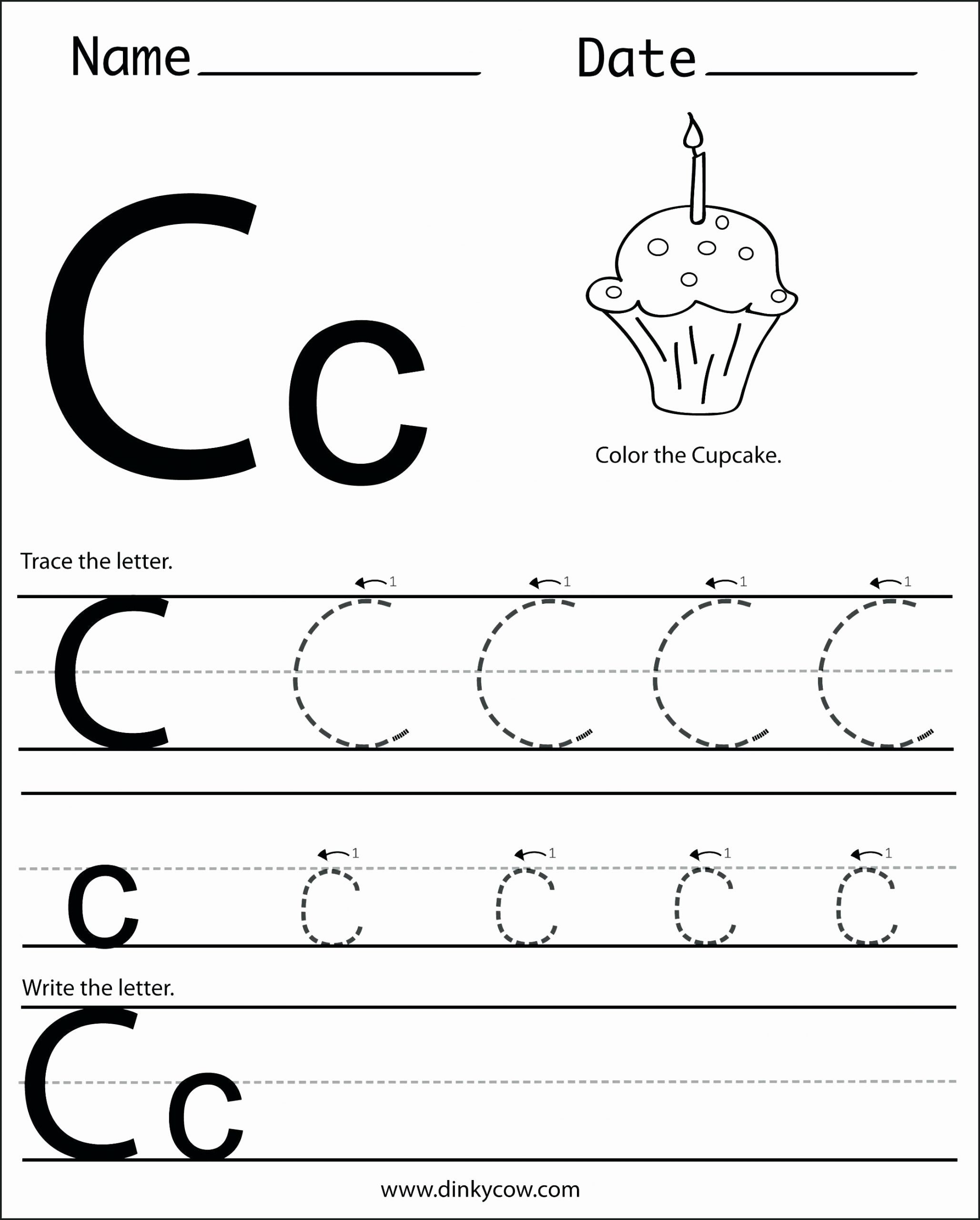 C Worksheets for Preschoolers Lovely Letter C Worksheets to Learning Letter C Worksheets Misc