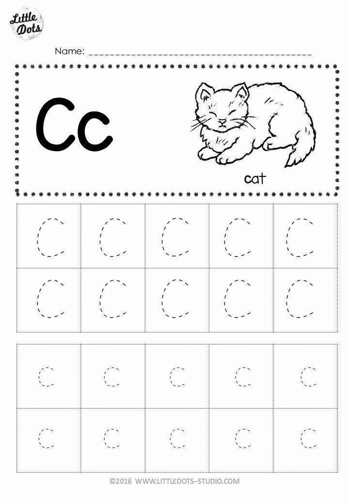 C Worksheets for Preschoolers Unique Free Letter C Tracing Worksheets