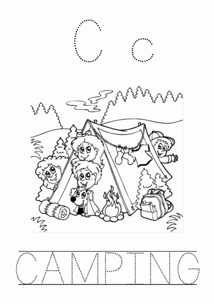 Camping Worksheets for Preschoolers Beautiful Preschool Camping theme Worksheet Printable Worksheets and