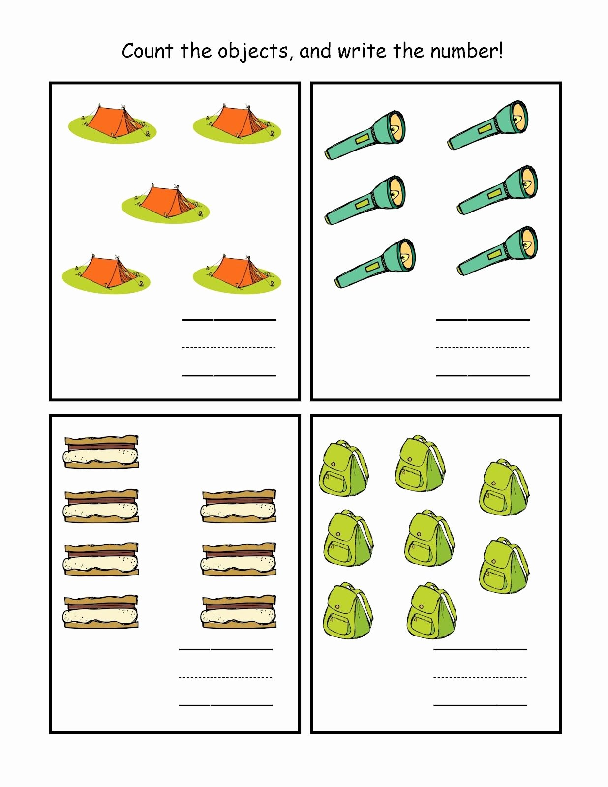 Camping Worksheets for Preschoolers Best Of Camping 5 8 1 236—1 600 Pixels