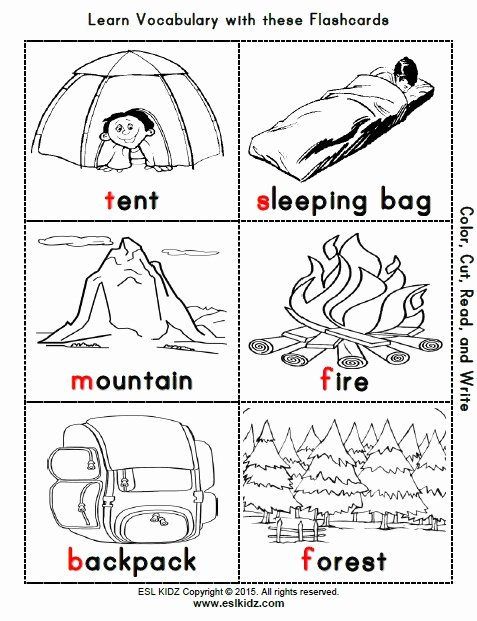 Camping Worksheets for Preschoolers Inspirational Camping Activities Games and Worksheets for Kids
