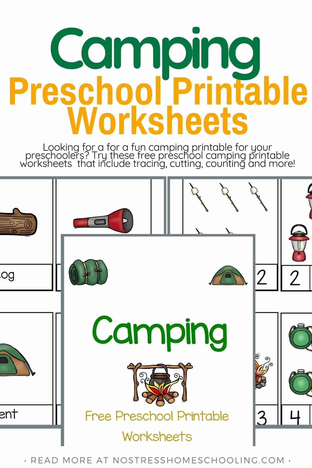Camping Worksheets for Preschoolers Inspirational Free Camping Preschool Printable Worksheets