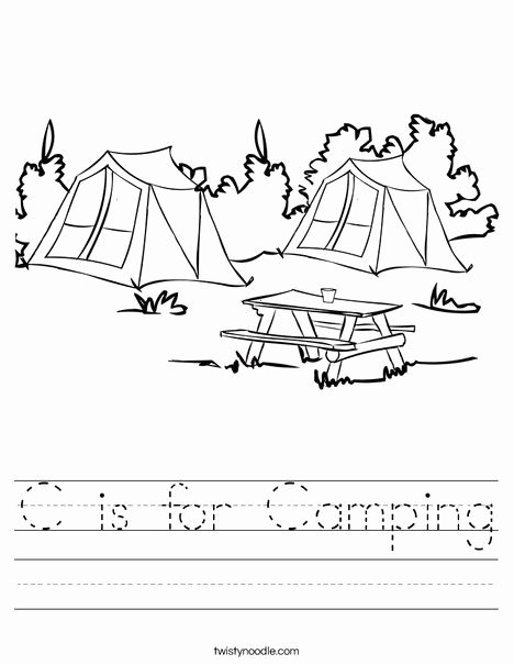 Camping Worksheets for Preschoolers New C is for Camping Worksheet