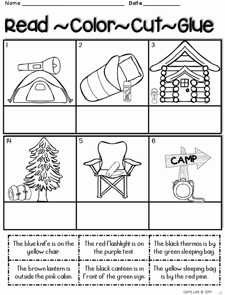 Camping Worksheets for Preschoolers New Camping Activities Camping Worksheets