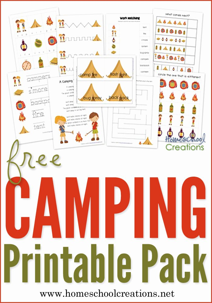Camping Worksheets for Preschoolers top Camping Preschool Pack Free Preschool Printables