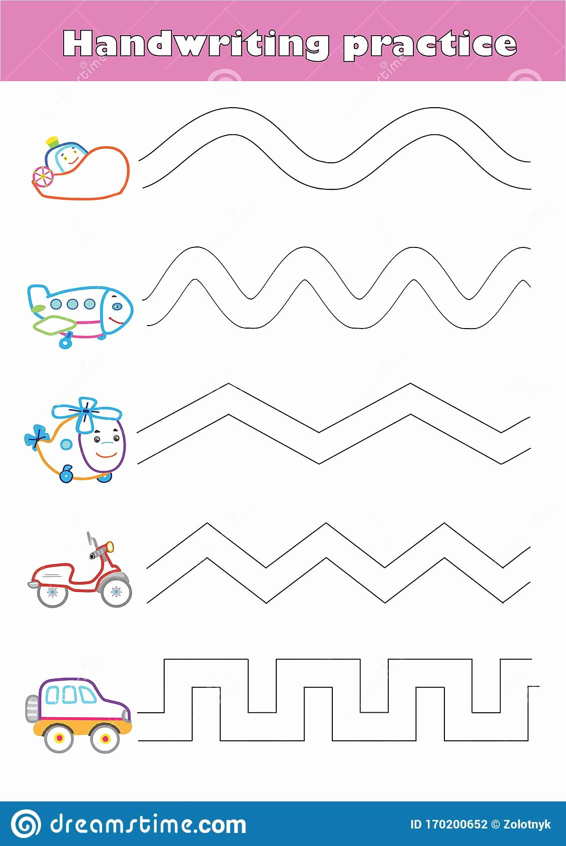 Car Worksheets for Preschoolers Awesome Trace Line Worksheet for Preschool Kids with Car Helicopter