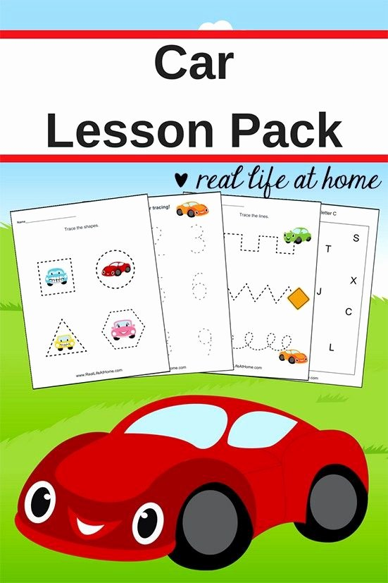 Car Worksheets for Preschoolers Best Of Car Worksheets Free Basic Skill Printables for Preschool