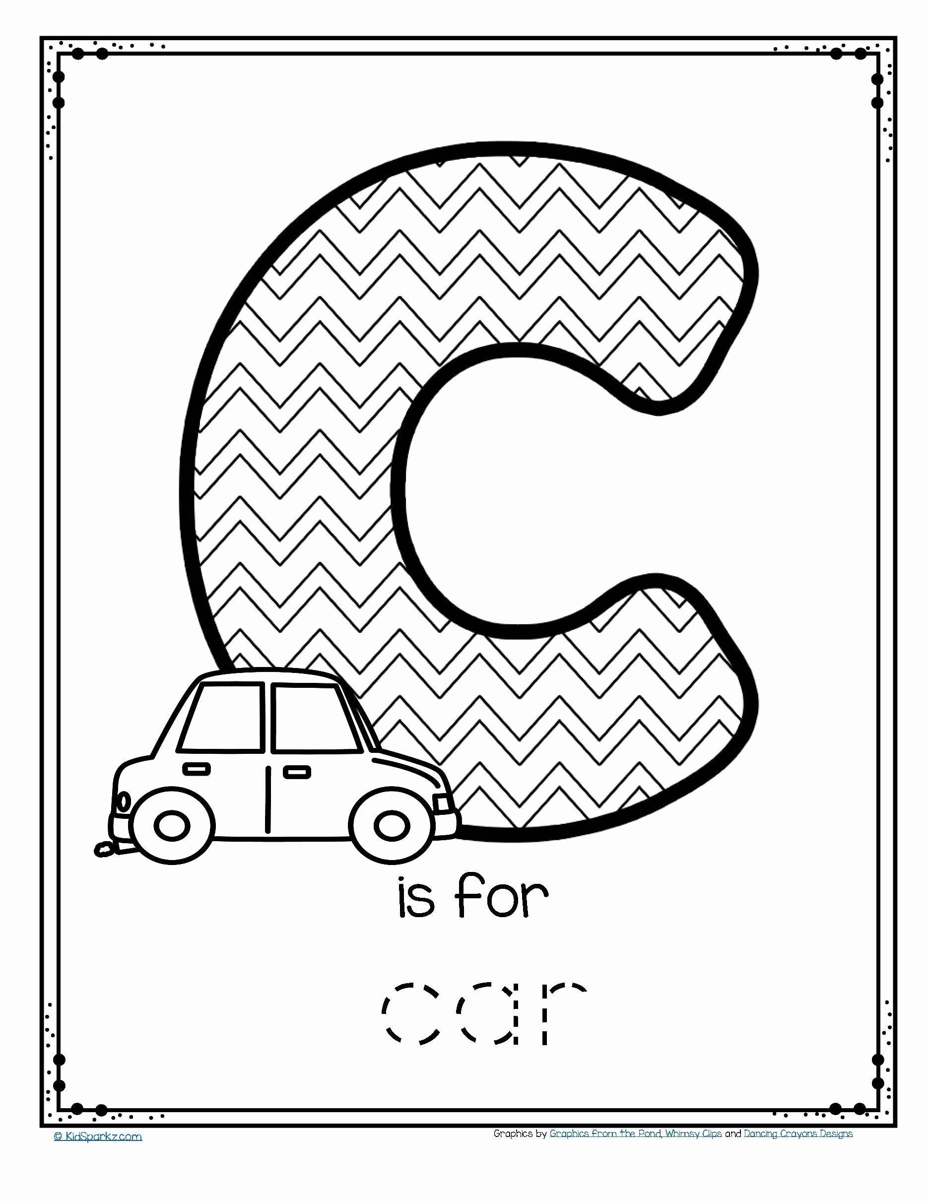Car Worksheets for Preschoolers Best Of Worksheets Free is for Car Trace and Color Printable