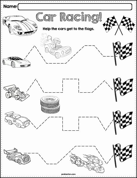 Car Worksheets for Preschoolers Fresh $1