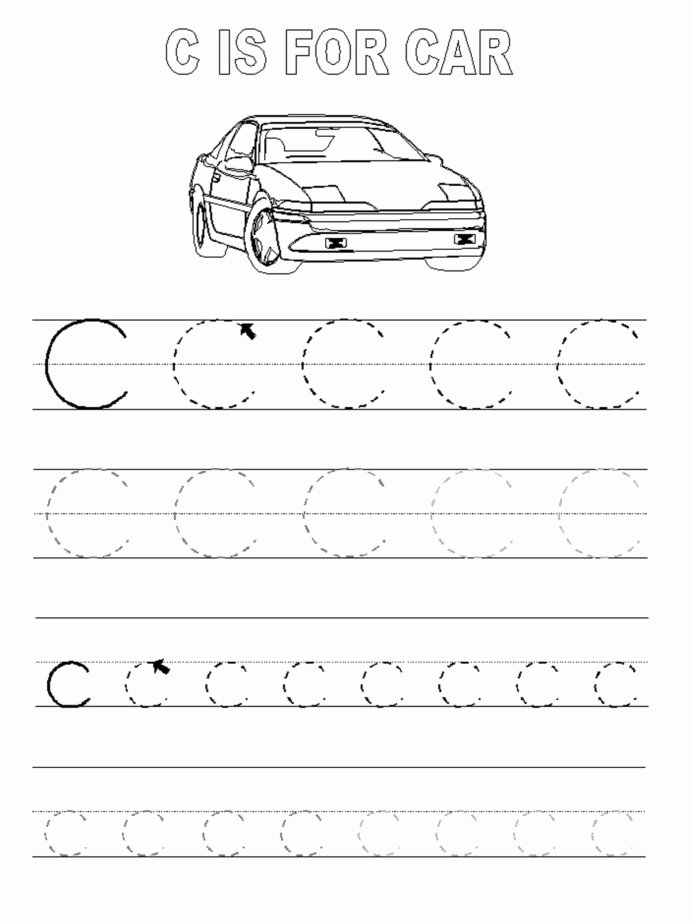 Car Worksheets for Preschoolers Inspirational Trace Letter Worksheets Activity Shelter Tracing Car