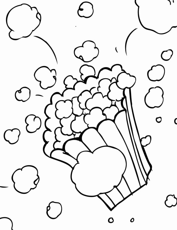 Cat In the Hat Worksheets for Preschoolers Awesome Popcorn Coloring to and Print for Free Printables toddlers