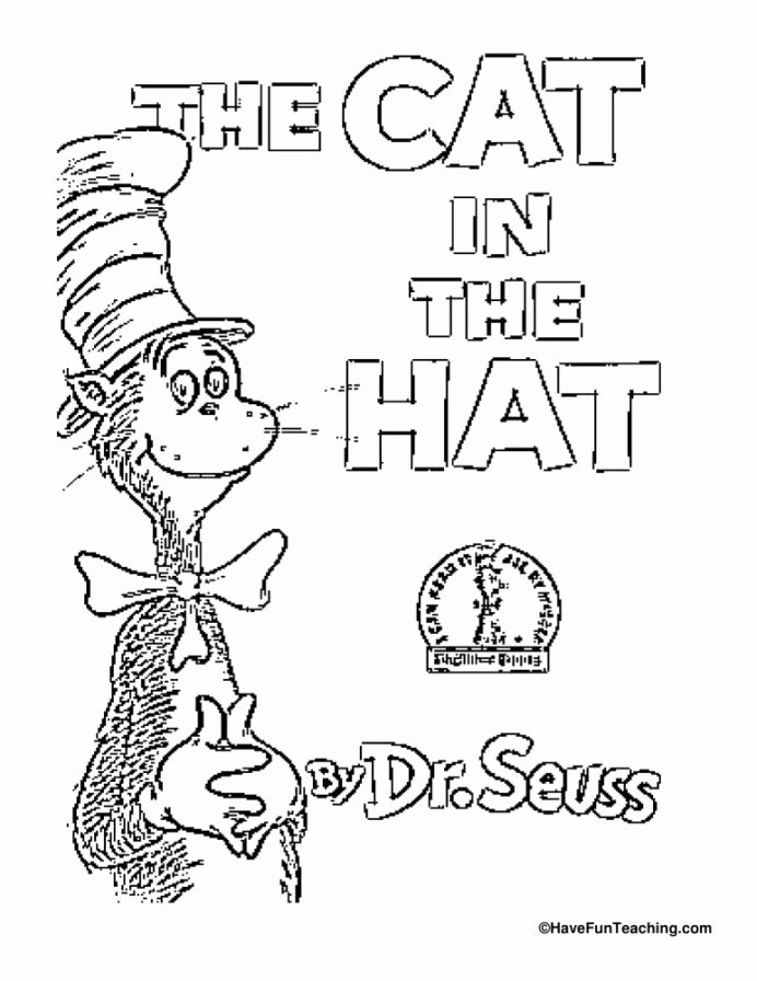 Cat In the Hat Worksheets for Preschoolers Best Of Cat In the Hat Coloring Dr Seuss Have Fun Teaching Read