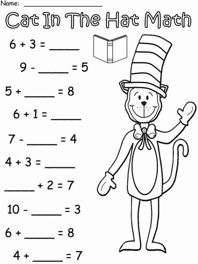 Cat In the Hat Worksheets for Preschoolers New March Into with More Cat In the Hat Dr Seuss Crafts Free