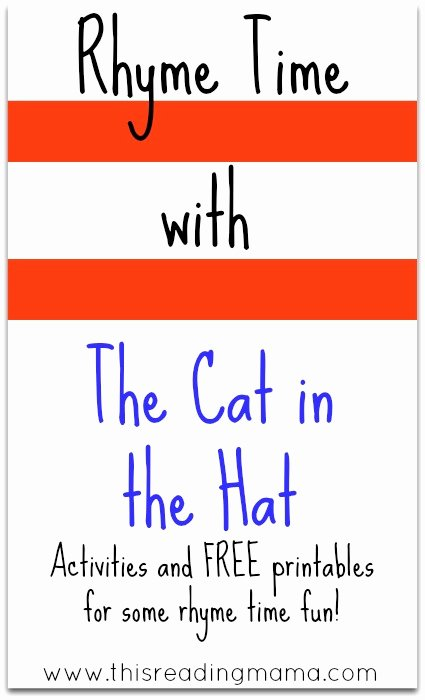 Cat In the Hat Worksheets for Preschoolers top Rhyme Time with the Cat In the Hat