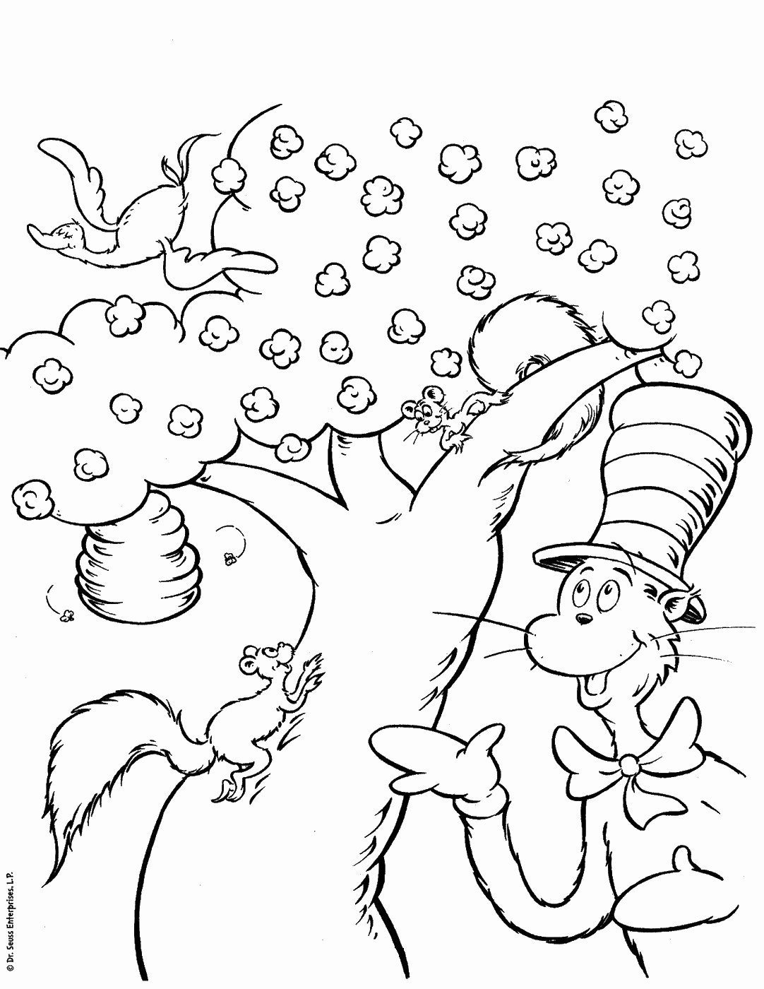 Cat In the Hat Worksheets for Preschoolers Unique Cat In the Hat Coloring Pages – Coloringcks