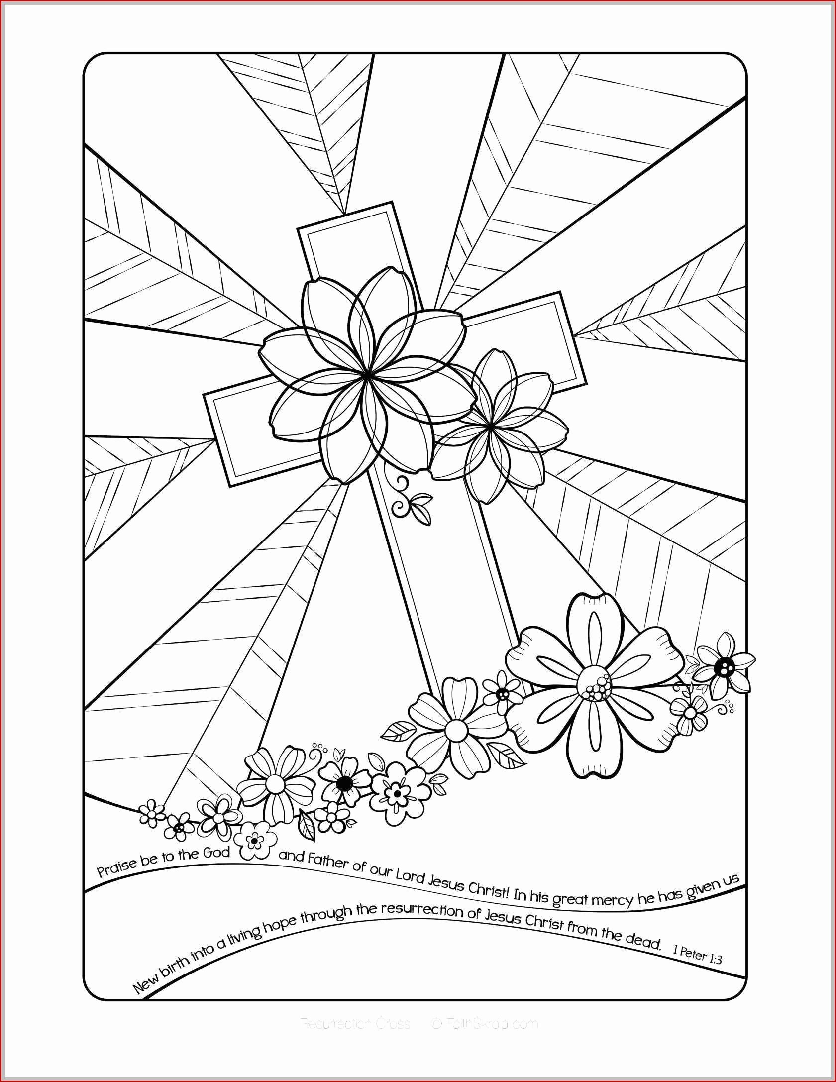 Christian Easter Worksheets for Preschoolers Beautiful Sunday School Preschool Easter Coloring top First Free