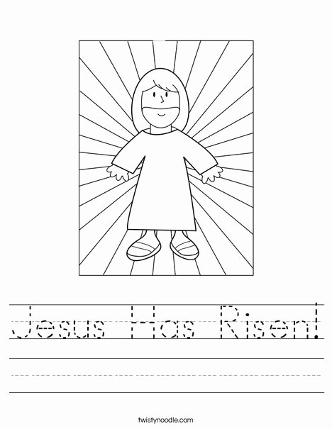 Christian Easter Worksheets for Preschoolers Best Of Jesus Has Risen Worksheet Twisty Noodle Religious Easter