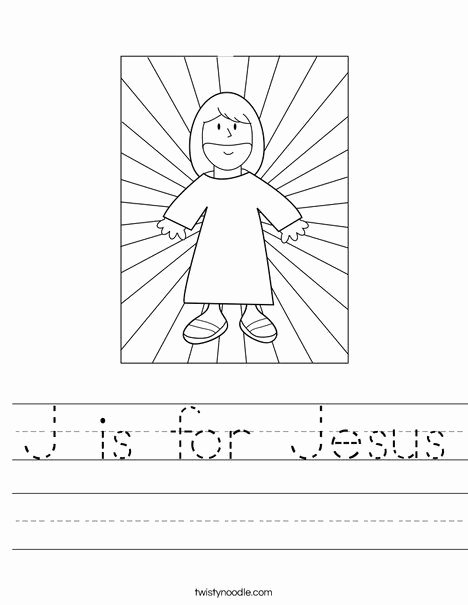 Christian Easter Worksheets for Preschoolers Fresh J is for Jesus Worksheet