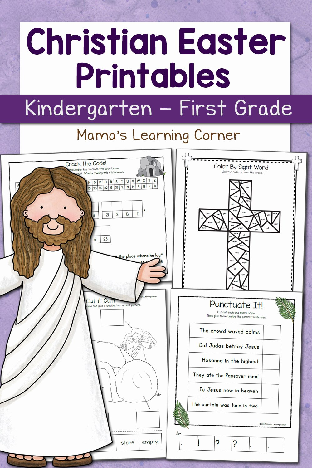 Christian Easter Worksheets for K and 1st