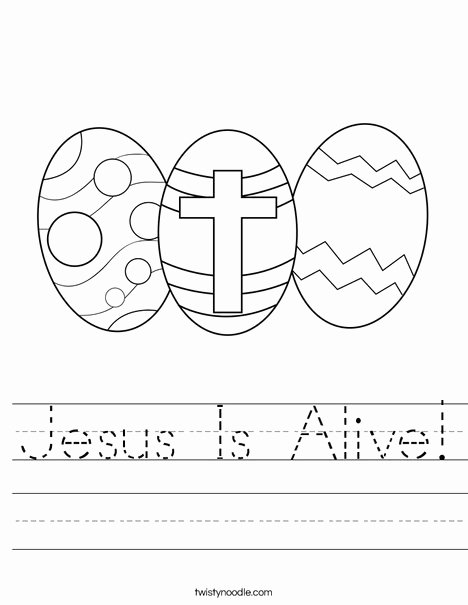 Christian Easter Worksheets for Preschoolers top Jesus is Alive Worksheet Twisty Noodle Religious Easter