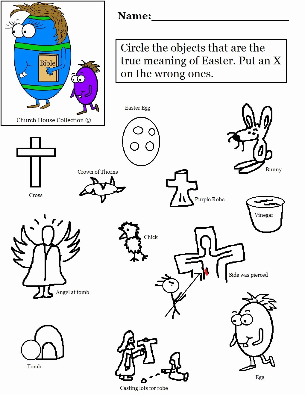 Christian Easter Worksheets for Preschoolers Unique Church House Collection Blog Easter Egg with Bible Worksheet