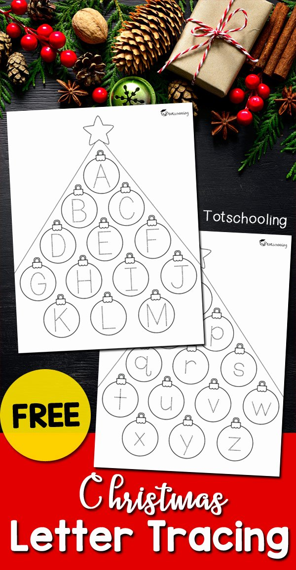 Christmas Alphabet Worksheets for Preschoolers Awesome Christmas Letter Tracing Sheets