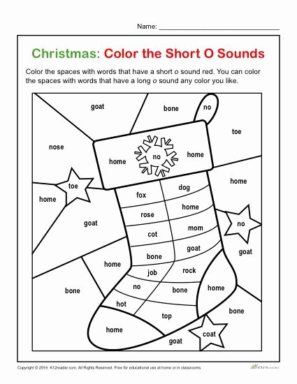 Christmas Alphabet Worksheets for Preschoolers Beautiful Color the Short Printable Christmas Letter sounds Activity