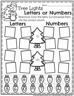 Christmas Alphabet Worksheets for Preschoolers Lovely December Preschool Worksheets