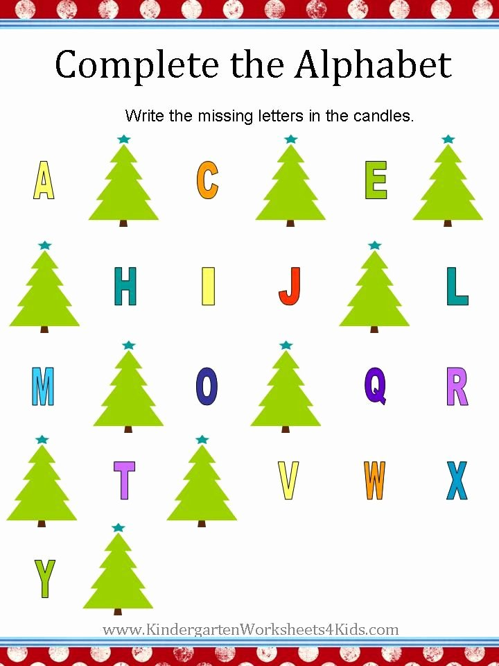 Christmas Alphabet Worksheets for Preschoolers New Christmas Alphabet Worksheets