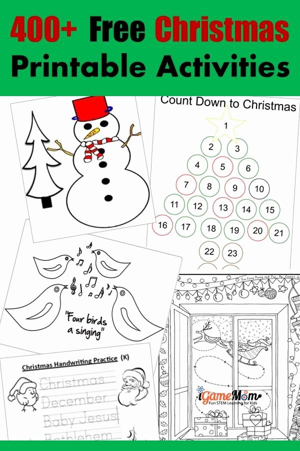 Christmas Alphabet Worksheets for Preschoolers top 400 Free Christmas Learning Printable Activities for Kids