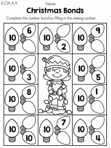 Christmas Number Worksheets for Preschoolers Lovely Christmas Math Worksheets Kindergarten