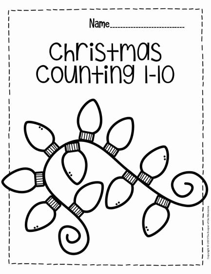 Christmas Number Worksheets for Preschoolers Lovely Free Printable Numbers Christmas Preschool Worksheets