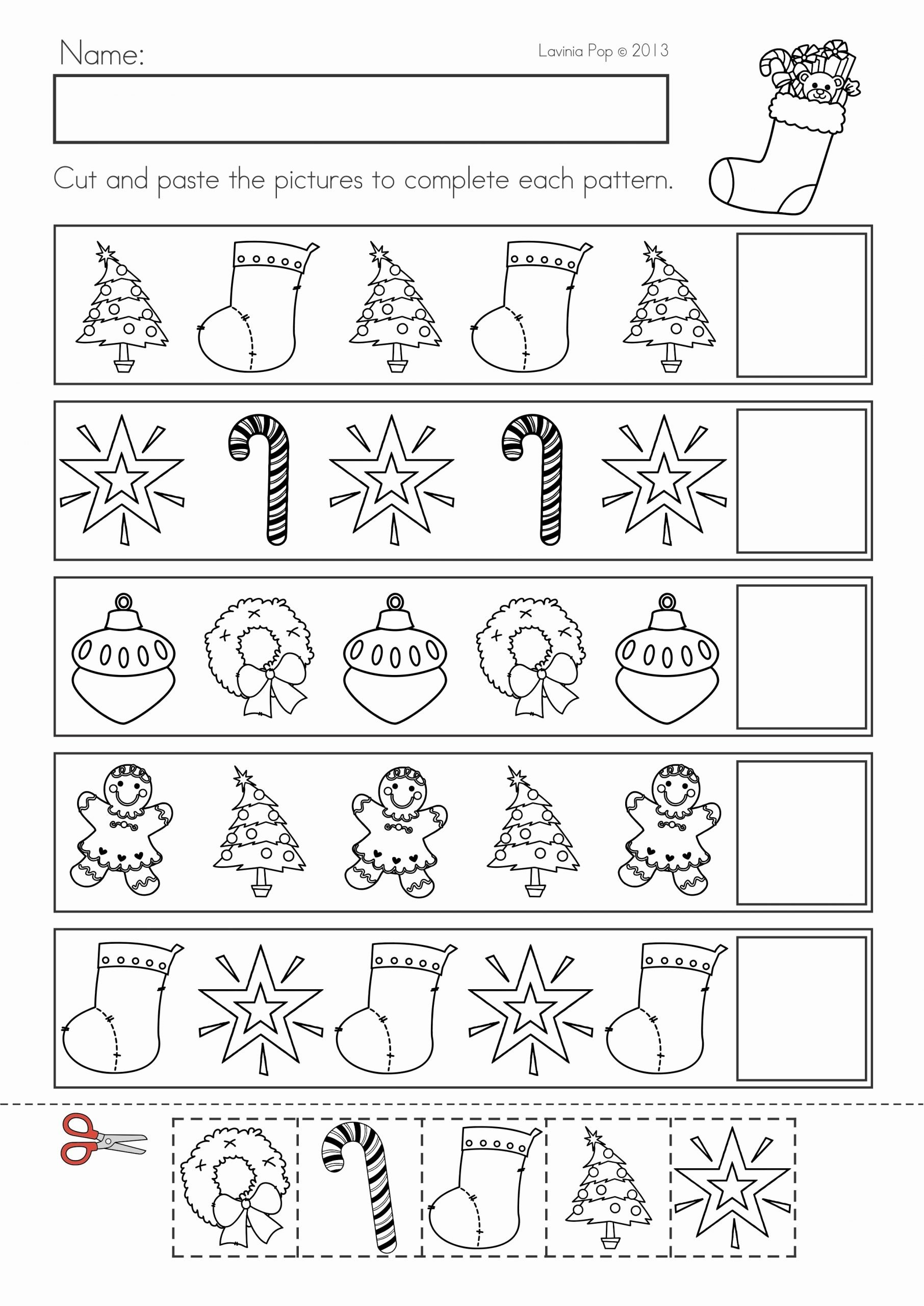 Christmas Pattern Worksheets for Preschoolers Fresh Christmas Math & Literacy Worksheets & Activities No Prep