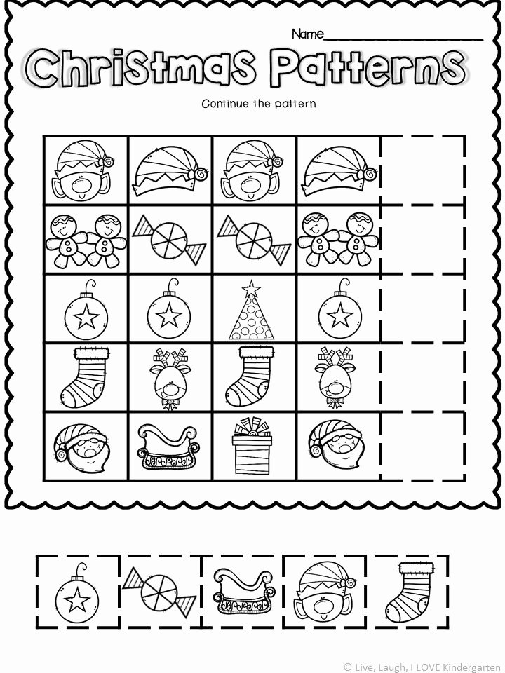 Christmas Pattern Worksheets for Preschoolers Inspirational Pattern Worksheet