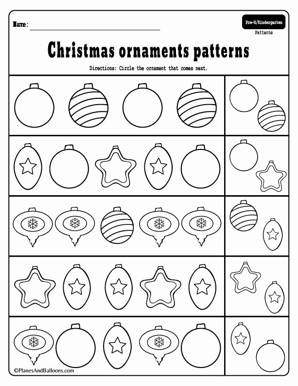 Christmas Pattern Worksheets for Preschoolers New Preschool Christmas Patterns Activities for Fun Holiday Math