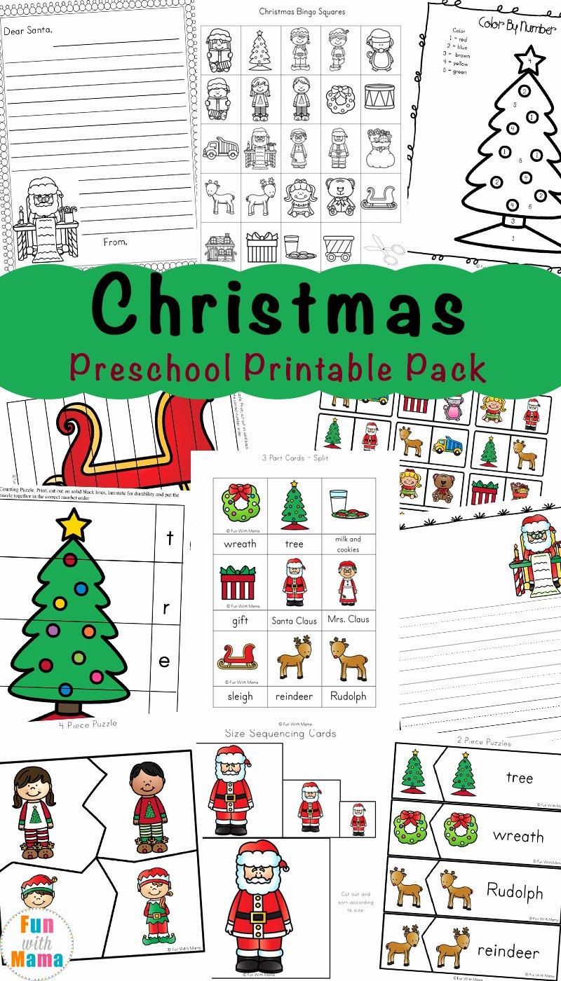 Christmas Worksheets for Preschoolers Beautiful Free Printable Christmas Worksheets Fun with Mama