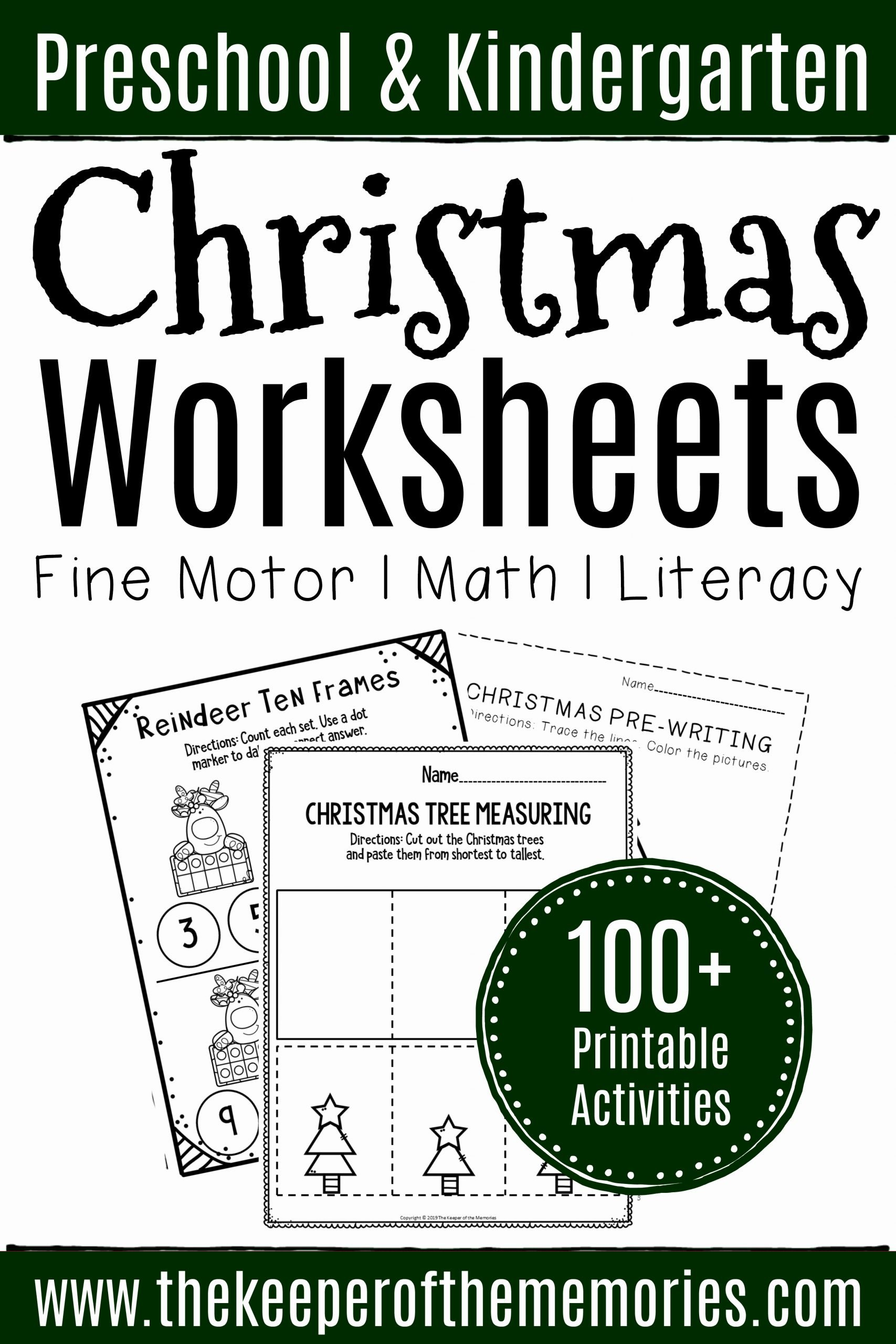 Christmas Worksheets for Preschoolers Fresh 100 Christmas Worksheets for Preschoolers & Kindergartners