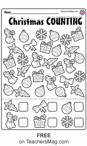 Christmas Worksheets for Preschoolers Inspirational Christmas Worksheets for Preschool Teachersmag