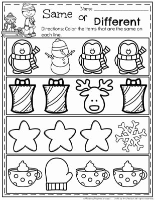 Christmas Worksheets for Preschoolers New December Preschool Worksheets