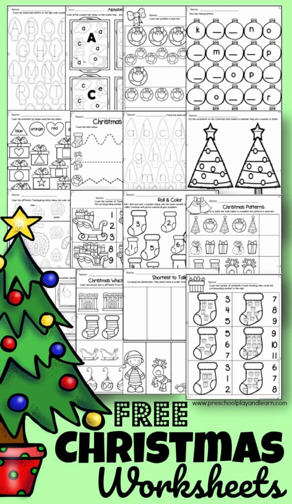 Christmas Worksheets for Preschoolers New Free Christmas Worksheets for Preschoolers