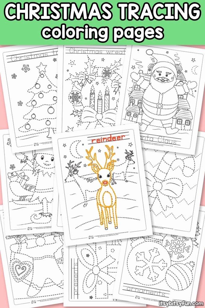 Christmas Worksheets for Preschoolers Printables Fresh Christmas Tracing Worksheets Itsybitsyfun