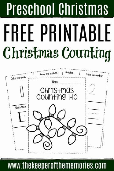Christmas Worksheets for Preschoolers Printables Lovely Free Printable Numbers Christmas Preschool Worksheets
