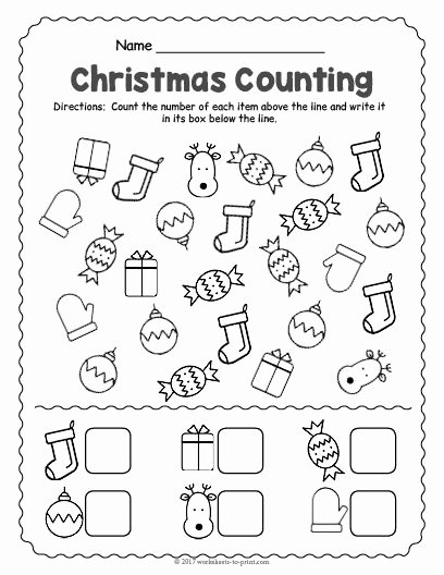 Christmas Worksheets for Preschoolers Printables Unique Free Printable Christmas Counting Worksheet