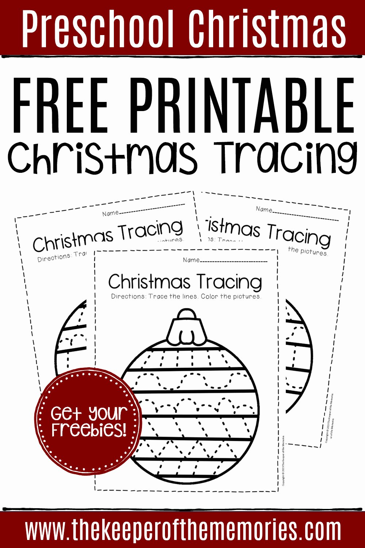Christmas Worksheets for Preschoolers Printables Unique Free Printable Tracing Christmas Preschool Worksheets